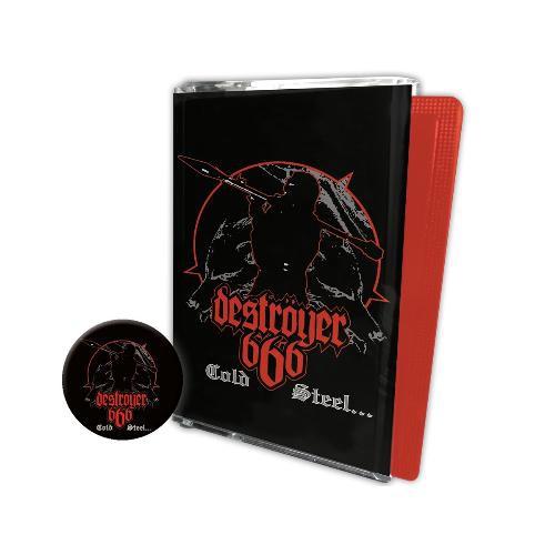 Deströyer 666 | Cold Steel For An Iron Age - CASSETTE + BUTTON