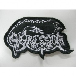 Agressor - Old Logo - EMBROIDERED PATCH