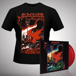 Agressor - Rebirth - DOUBLE LP GATEFOLD COLOURED + T-SHIRT bundle (Men)