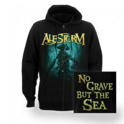 Alestorm - No Grave But The Sea - Hooded Sweat Shirt Zip (Men)