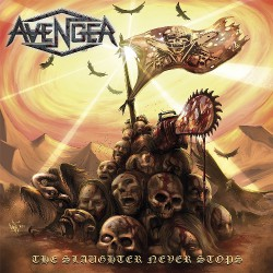 Avenger - The Slaughter Never Stops - LP Gatefold Coloured