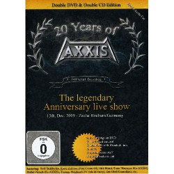 "Axxis - 20 Years Of Axxis ""the Legendary Anniversary Live Show"" - DOUBLE DVD + 2CD"