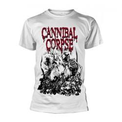 Cannibal Corpse - Pile Of Skulls (White) - T-shirt (Men)