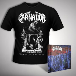 Carnation - Chapel Of Abhorrence - CD + T-shirt bundle (Men)