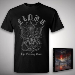 Cloak - The Burning Dawn - CD DIGIPAK + T-shirt bundle (Men)
