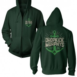 Dropkick Murphys - Anchor Admat Green - Hooded Sweat Shirt Zip (Men)