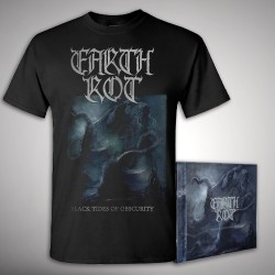 Earth Rot - Black Tides Of Obscurity - CD + T-shirt bundle (Men)