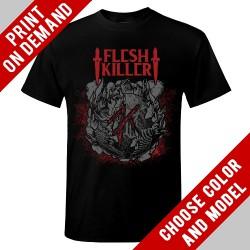 Fleshkiller - Red Logo - Print on demand