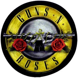 Guns N' Roses - Bullet Logo - BACKPATCH