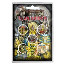 Iron Maiden - Early Albums - BUTTON BADGE SET