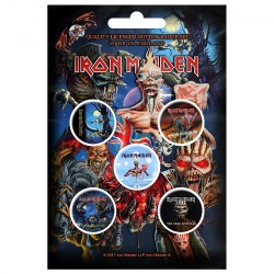 Iron Maiden - Later Albums - BUTTON BADGE SET