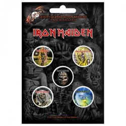Iron Maiden - The Faces Of Eddie - BUTTON BADGE SET