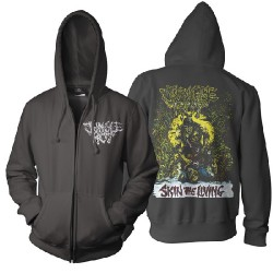 Jungle Rot - Skin The Living Color - Hooded Sweat Shirt Zip (Men)
