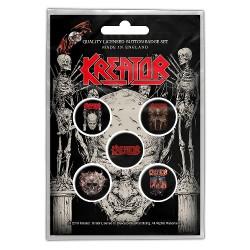Kreator - Skull & Skeletons - BUTTON BADGE SET