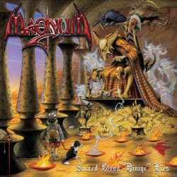 "Magnum - Sacred Blood ""Divine"" Lies - DOUBLE LP GATEFOLD COLOURED + CD"