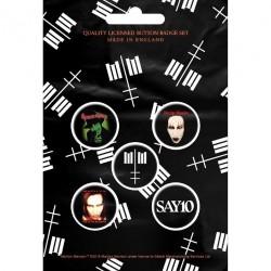 Marilyn Manson - Cross Logo - BUTTON BADGE SET