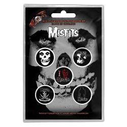 Misfits - Skull - BUTTON BADGE SET