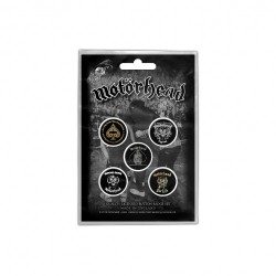Motorhead - Clean Your Clock - BUTTON BADGE SET
