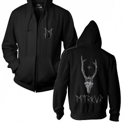 Myrkur - Deer Skull - Hooded Sweat Shirt Zip (Men)