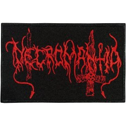Necromantia - Red Logo - EMBROIDERED PATCH