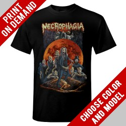 Necrophagia - Here Lies NECROPHAGIA - Print on demand