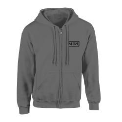Nine Inch Nails - Classic Black Logo - Hooded Sweat Shirt Zip (Men)