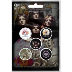 Queen - Early Albums - BUTTON BADGE SET