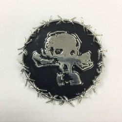 Revenge - Gas Masked Skull - METAL PIN
