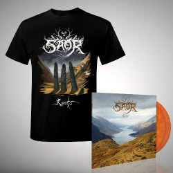 Saor - Bundle 3 - DOUBLE LP GATEFOLD COLOURED + T-SHIRT bundle (Men)