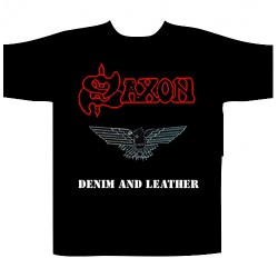 Saxon - Denim And Leather - T-shirt (Men)