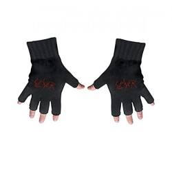 Slayer - Logo - FINGERLESS GLOVES