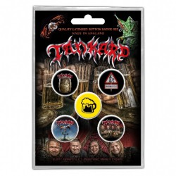 Tankard - One Foot In The Grave - BUTTON BADGE SET