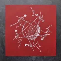 Tsjuder - Krater - Red (from Antiliv) - Screen print
