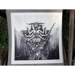Watain - Malfeitor - Serigraphy