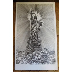 Watain - Statue Of Abomination - Serigraphy