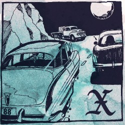 """X - Delta 88 Nightmare / Cyrano Deberger's Back - 7"""" vinyl"""