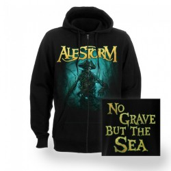Alestorm - No Grave But The Sea - Hooded Sweat Shirt Zip (Homme)