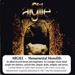 Argile - Monumental Monolith - CD SUPER JEWEL