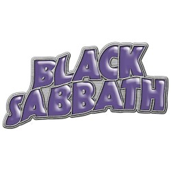 Black Sabbath - Purple Logo - METAL PIN