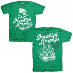 Dropkick Murphys - Scally Skull Ship Green - T-shirt (Homme)