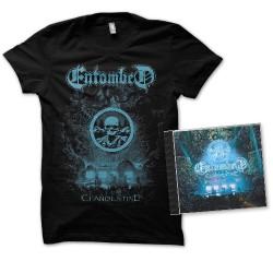 Entombed - Clandestine - Live - CD + T-shirt bundle (Homme)