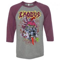 Exodus - Toxic Wolf - Baseball Shirt 3/4 Sleeve (Homme)