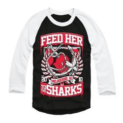 Feed Her To The Sharks - Broken Anchor - Baseball Shirt 3/4 Sleeve (Men)