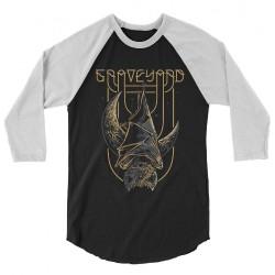 Graveyard - Batmoon Rising - Baseball Shirt 3/4 Sleeve (Homme)