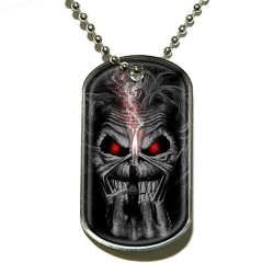 Iron Maiden - Eddie Candle Finger - Dog Tag
