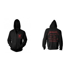 Metallica - No Regrets - Hooded Sweat Shirt Zip (Homme)