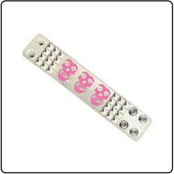 Misfits - Logo Skuls White Dsitressed Girll - Leather Bracelet