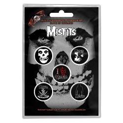 Misfits - Skull - BUTTON BADGE SET