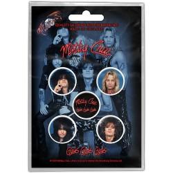 Mötley Crüe - Girls Girls Girls - BUTTON BADGE SET
