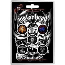 Motorhead - England - BUTTON BADGE SET